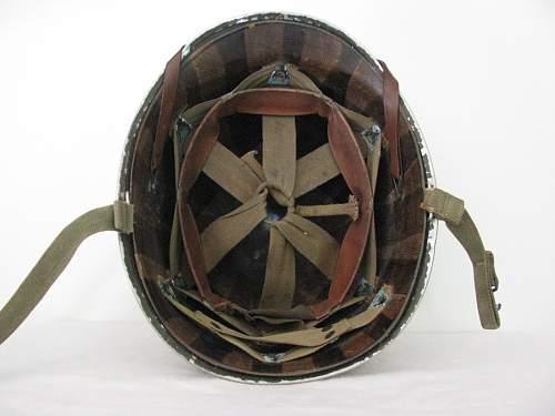 Painted Naval Fixed Bale M1 Helmet - Aviation Ordnance Man Third Class