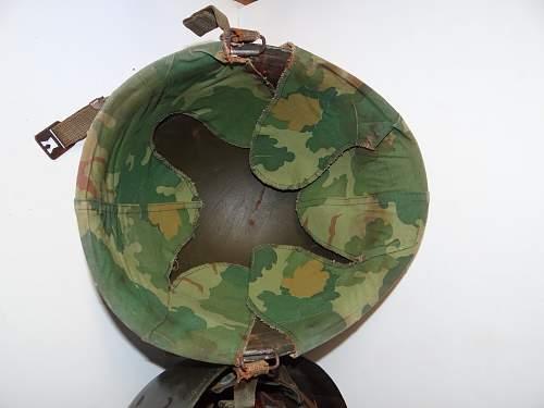 M1c helmet of dewey c. Simpson special forces vietnam