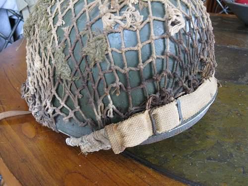 Fixed bale M1 helmet