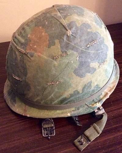 Vietnam period M1C helmet