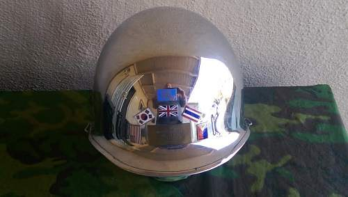 Found this helmet this morning at an estate sale