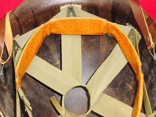 Question: Original US ARMY FRONT SEAM HELMET & LINER?