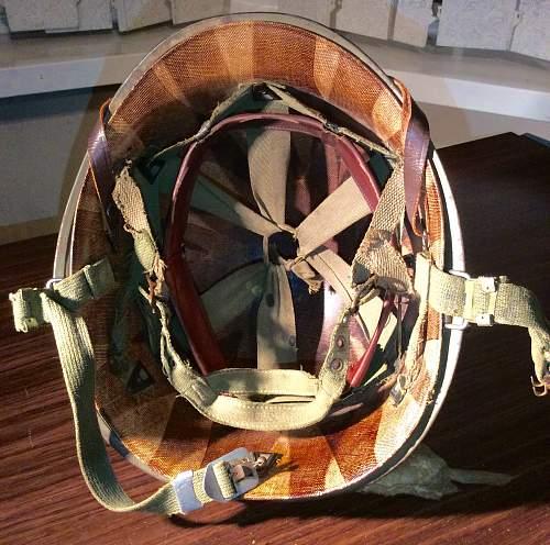 MWA59stamp on M1C helmet