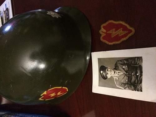 25th inf. m1 helmet liner!