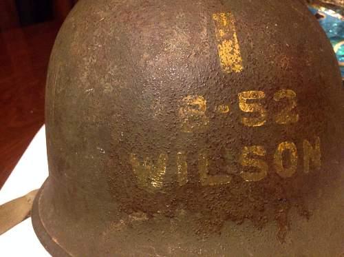 2nd Lt. Named fixed bale Schlueter helmet