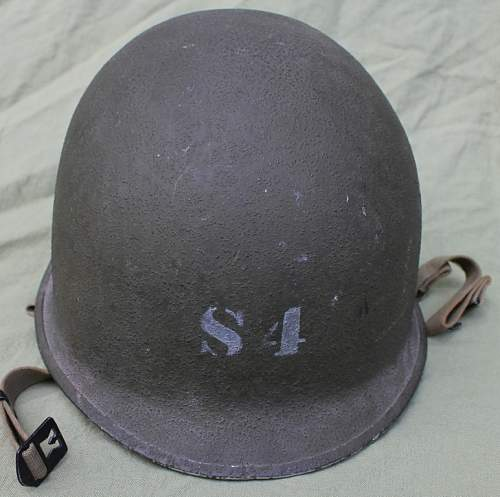 M1 with inscripiton 'WS' and white liner: Authentic US WW2? MP?
