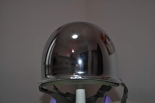 M1 Helmet Chrome