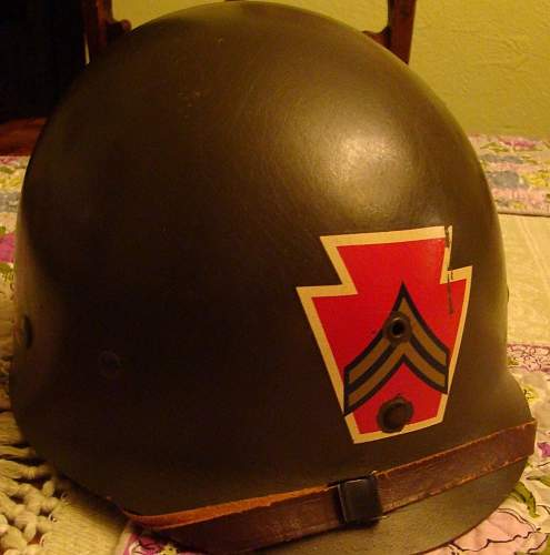 2 more liners M1 authentic? Westinghouse WW II and Capac 28th Infantry Division early 50s