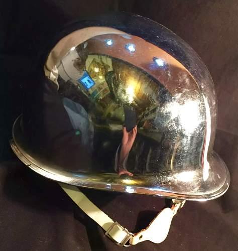 M1 chromed parade helmet