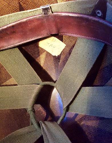 Unusual marked M1 helmet liner