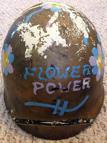 Flower Power! - Vietnam Protest Helmet Liner
