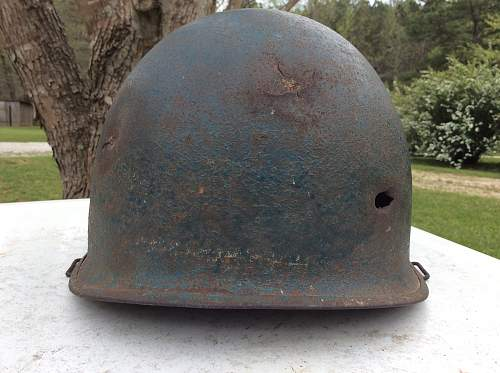 Medic helmet with possible battle damage