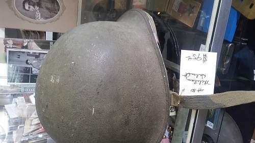 fixed bale helmet, ww2? my first one