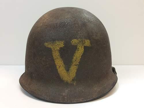 Ww2 m1 helmet with V