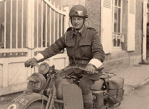 British bike pictures, Arromanches (Normandy), 1944