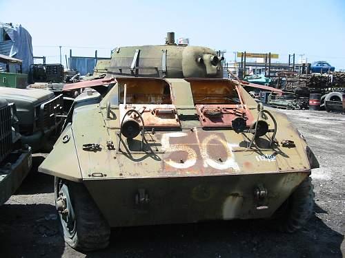 M 8 Greyhound in surplus yard