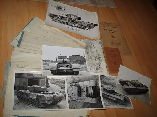 British ww2 Churchill Blue prints and photos