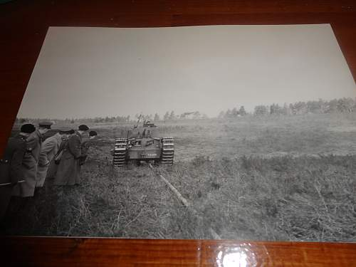 "Photos of a WW2 Canadian Tank pushing a ""Snake"""