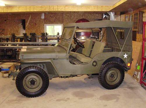 Willy CJ2A 1946 ? could this pass off as a resistance type vehicle?