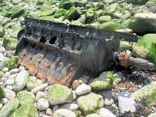 Tank part or just a lump of scrap on a Normandy beach?