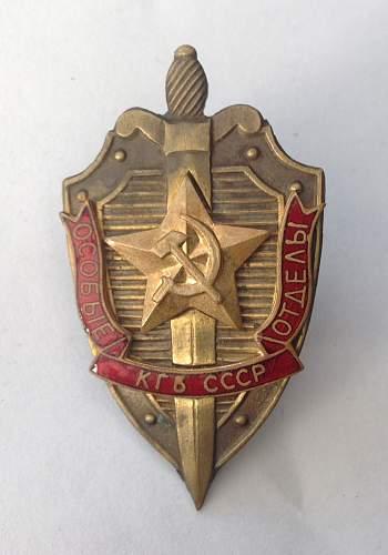 KGB breast badge