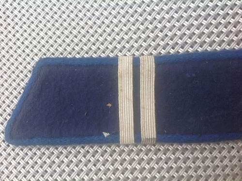 Identfying bleu collar tab