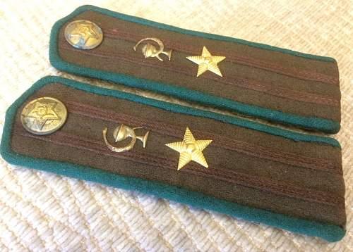 Wartime or postwar M43 shoulder boards?