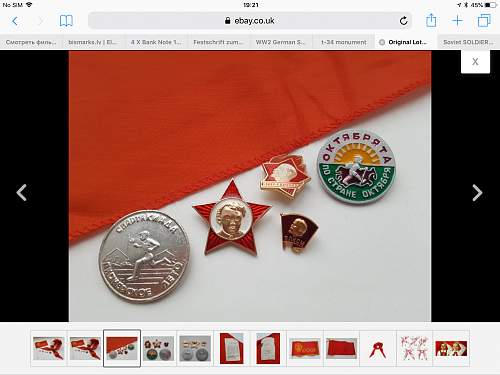 Soviet pioneers scarf and pins. Authentic?