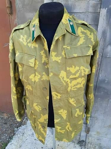 Border guard jacket in Berezka camouflage.
