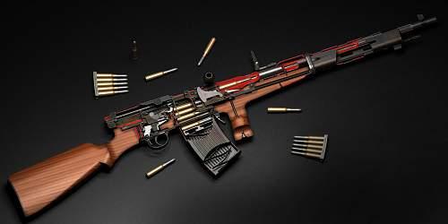 3D-model weapons VChK - MVD-GRU-FSB