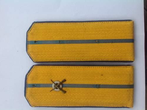 Silk braid NKVD parade boards.