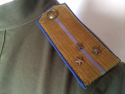 M43 NKVD officer blue corn flower gym