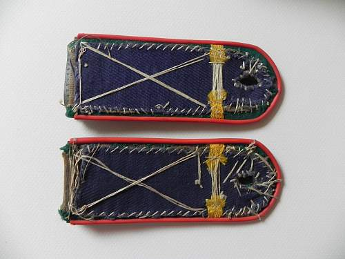 NKVD handmade shoulder boards