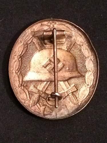Verwundetenabzeichen 1939 in Gold Silver Black wound badges HOLLOW GOLD?