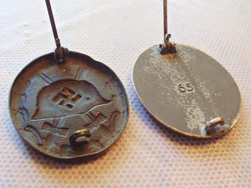 1939 Black Wound Badge (1939 Verwundetenabzeichen im Schwartz)