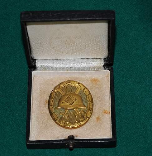 Verwundetenabzeichen 1939 in Gold MAKER 30