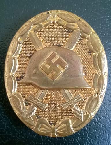 Verwundeten-Abzeichen, 1939 (Gold)