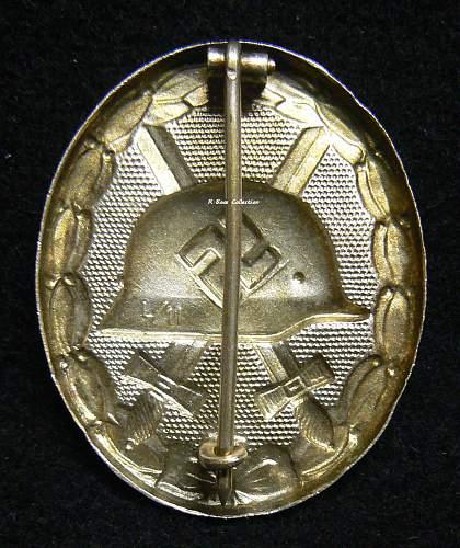 Verwundetenabzeichen 1939 in Silber, Hollow L/11, Wilhelm Deumer
