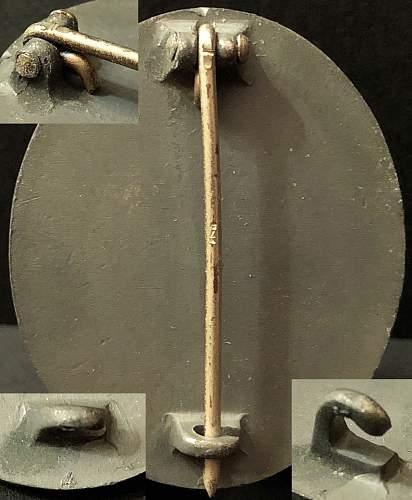 Verwundetenabzeichen in Gold without maker mark.