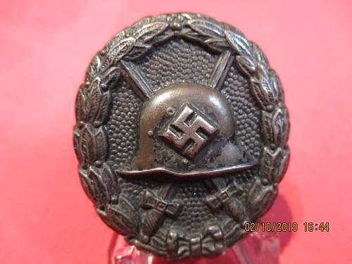 Verwundetenabzeichen Black Spanish War