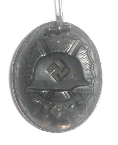 """Verwundetenabzeichen 1939 in Schwarz """"3"""" Wilhelm Deumer"""
