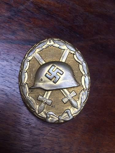 Verwundetenabzeichen im Gold, for your appraisal.