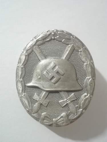 Verwundetenabzeichen  silber  Wilhelm Deumer (L/11)