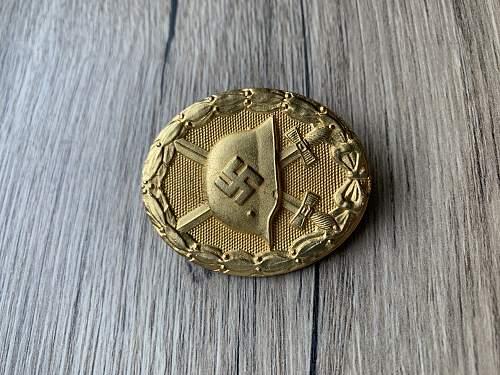 Verwundetenabzeichen Gold 127