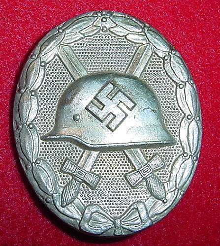 """30"" Marked Wound Badge with Different Pin - is it original?"