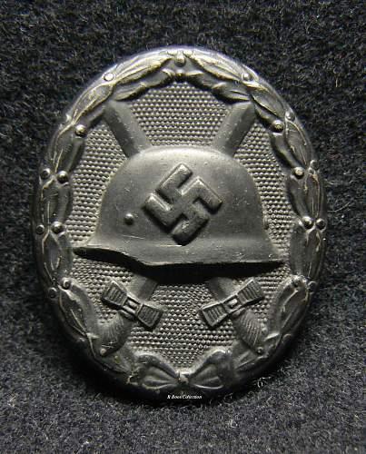 Verwundetenabzeichen 1939 in Schwarz, 65, Klein & Quenzer.