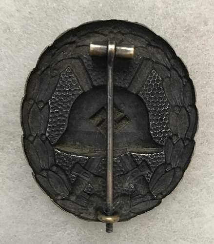 Great Looking Verwundetenabzeichen Condor Legion in Schwarz