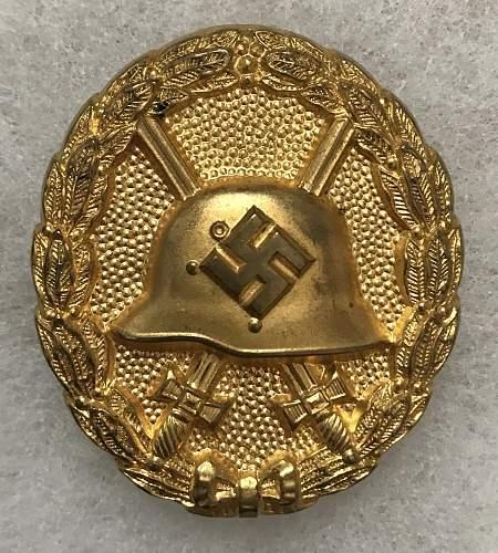 Verwundetenabzeichen Legion Condor in Gilt