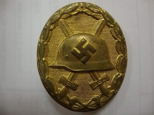 Verwundetenabzeichen im gold