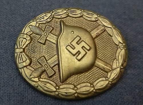 Verwundetenabzeichen in Gold Authentic or fake?